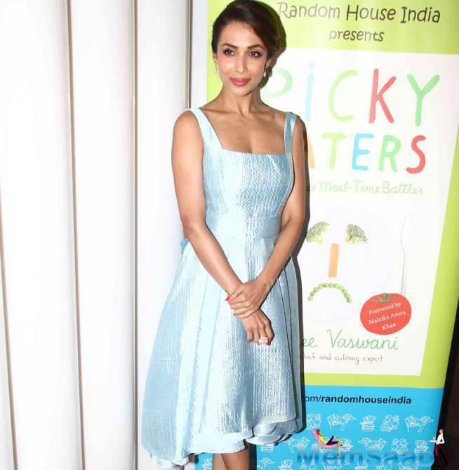 Malaika Looked Elegant In A Powder Blue John Paul Ataker Dress