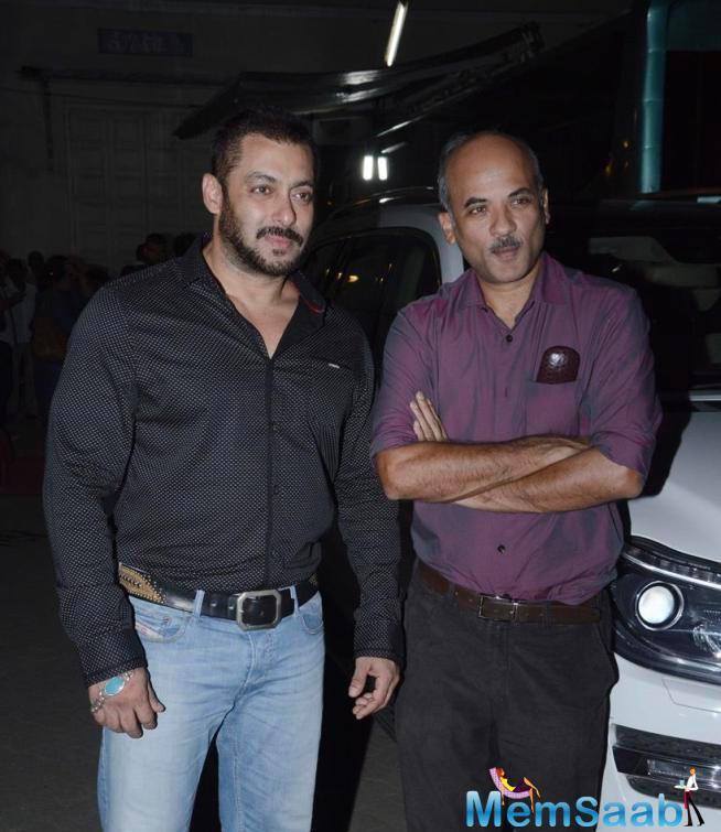Salman And Sooraj Spotted Outside Of Mehboob Studios For PRDP