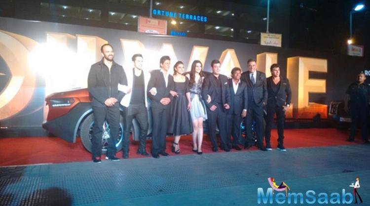 Team Of Dilwale At A Mumbai Multiplex For Their Movie Trailer Launch