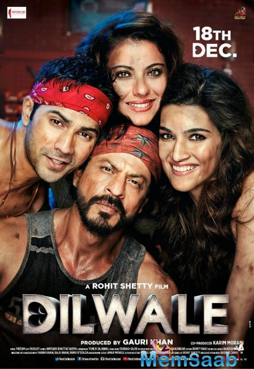 The Much Awaited Poster Of The Rohit Shetty Movie 'Dilwale' Is Here And It Is Rocking