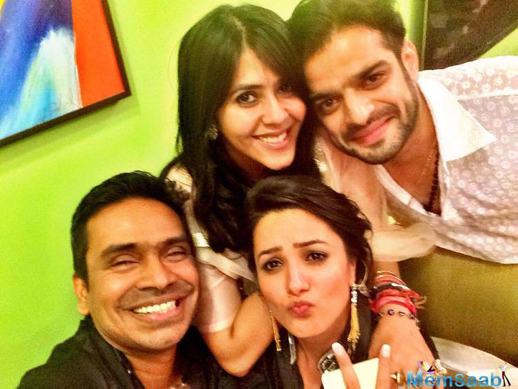 Ekta Kapoor Joined The Team Of Mohabbatein For Diwali Celebration