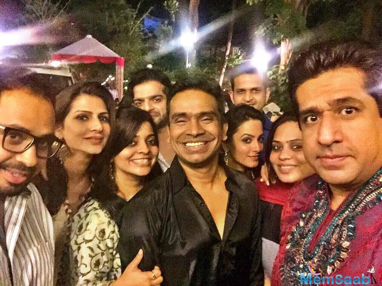 Team Of Mohabbatein Enjoying Diwali Festival