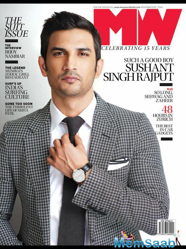 Good Boy Sushant Singh Rajput At Man's World Magazine November Issue