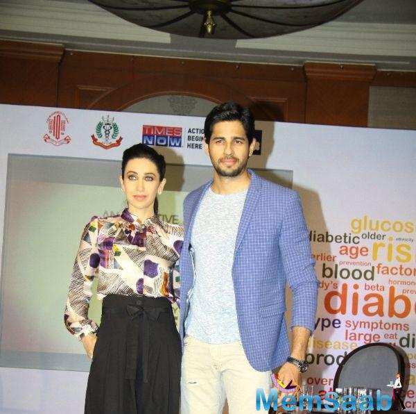 Karisma Kapoor And Sidharth Malhotra To Support Of AIOS' National Diabetes Initiative