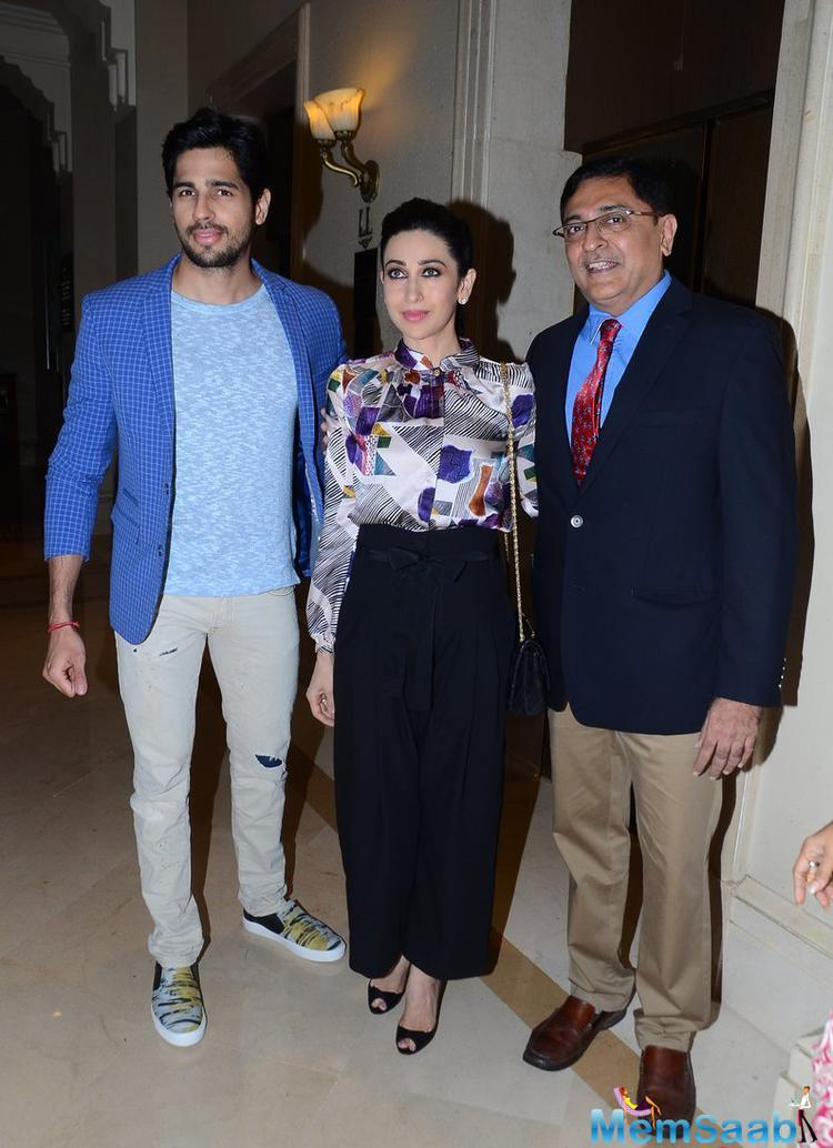 Sidharth Malhotra And Karisma Kapoor Attend The AIOS' National Diabetes Initiative Event