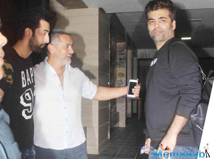 Karan And Ranbir Paid A Visit To Ailing Aamir At His Residence