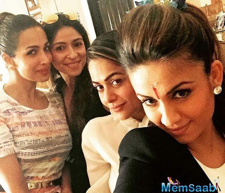 Malaika , Maheep, Amrita At Natasha Poonawalla's Baby Shower