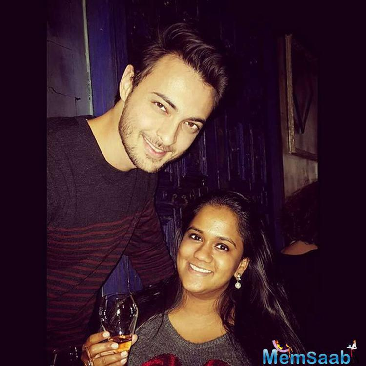 Aayush And Arpita Clicked A Pic During Their Celebration Time