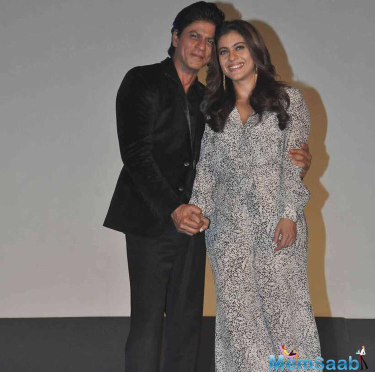 Beautiful Couple Of Bollywood SRK And Kajol Promote Gerua Song In Mumbai