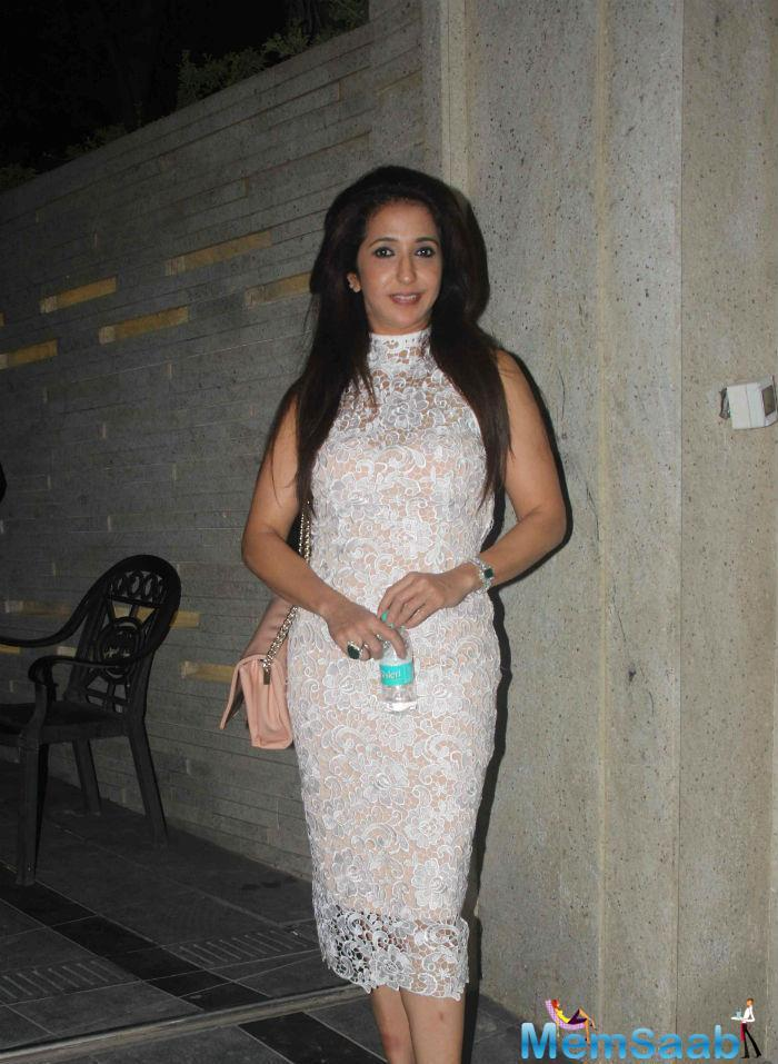 Krishika Lulla Looked Gorgeous In A Lace Dress