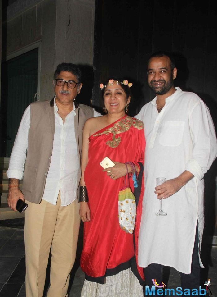 Masaba's Mother Actress Neena Gupta, Stepfather Vivek Mehra And Madhu Posed For A Picture Together