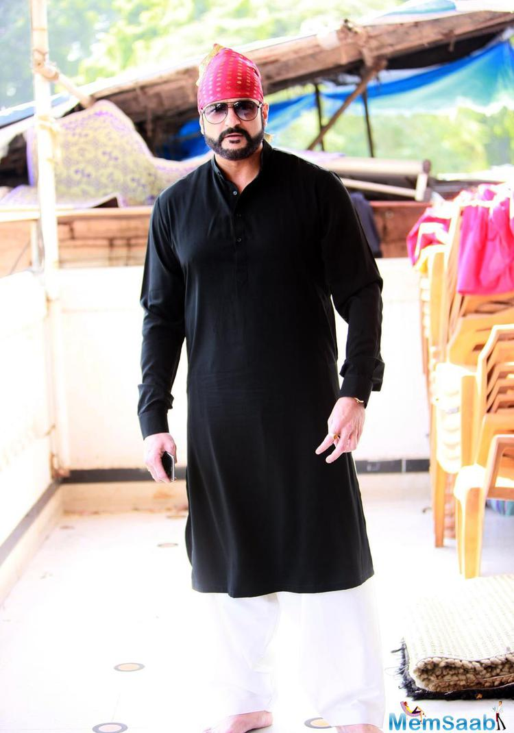 Armaan Kohli Stylish Look During Nanak Naam Jahaz Hai Poster Launch