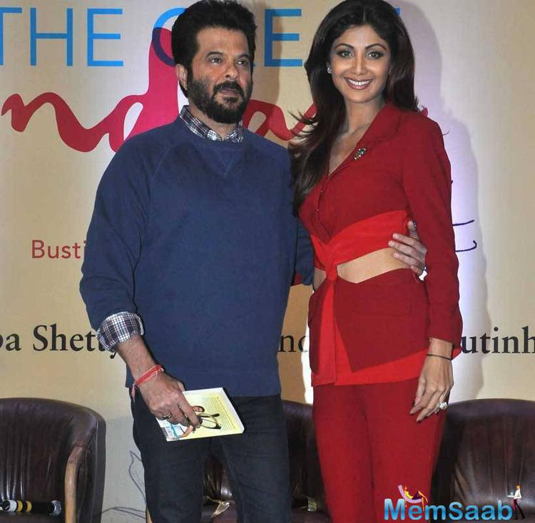 Shilpa And Anil Pose Together During The Great Indian Diet Launch Event