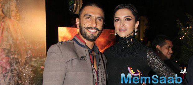 Ranveer And Deepika Both Looking Ravishing And Hot During BM Trailer Launch