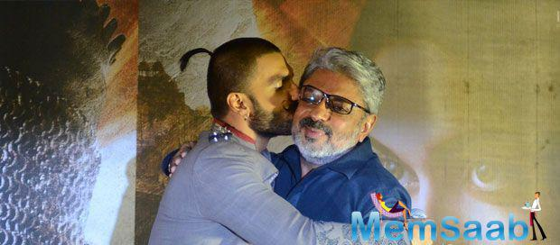 Ranveer Singh Kissing His Director On Stage During BM Trailer Launch