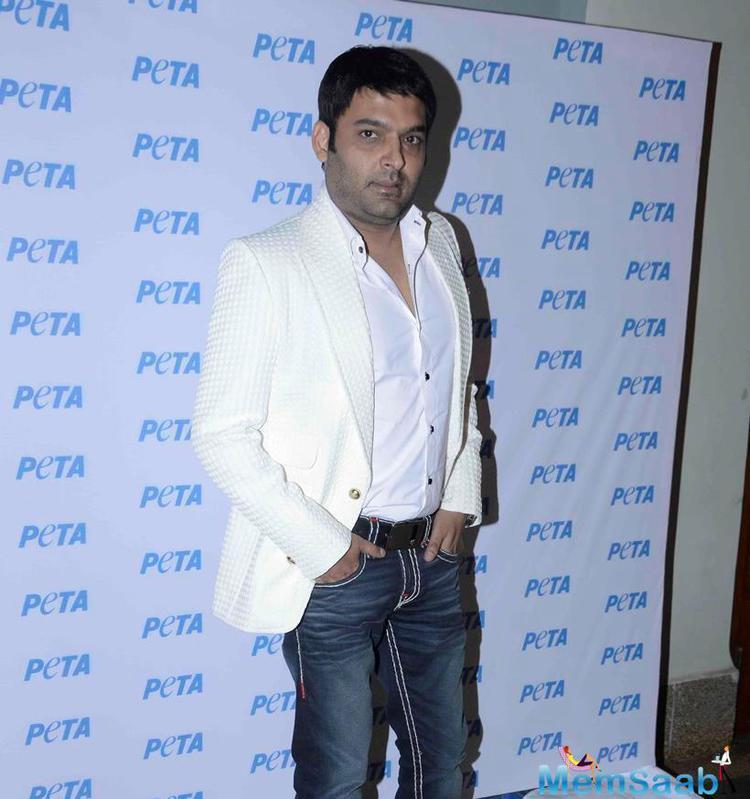 Kapil Sharma Attended The PETA Award Function 2015