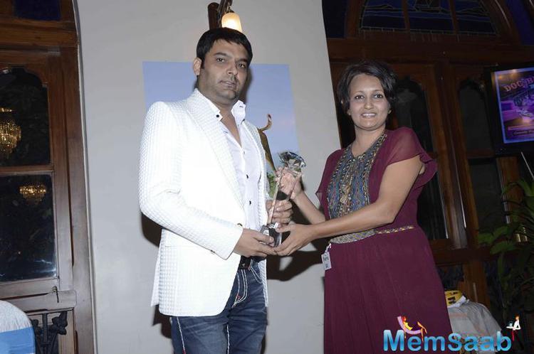 Stand Up Comedian Kapil Sharma Received Award From PETA