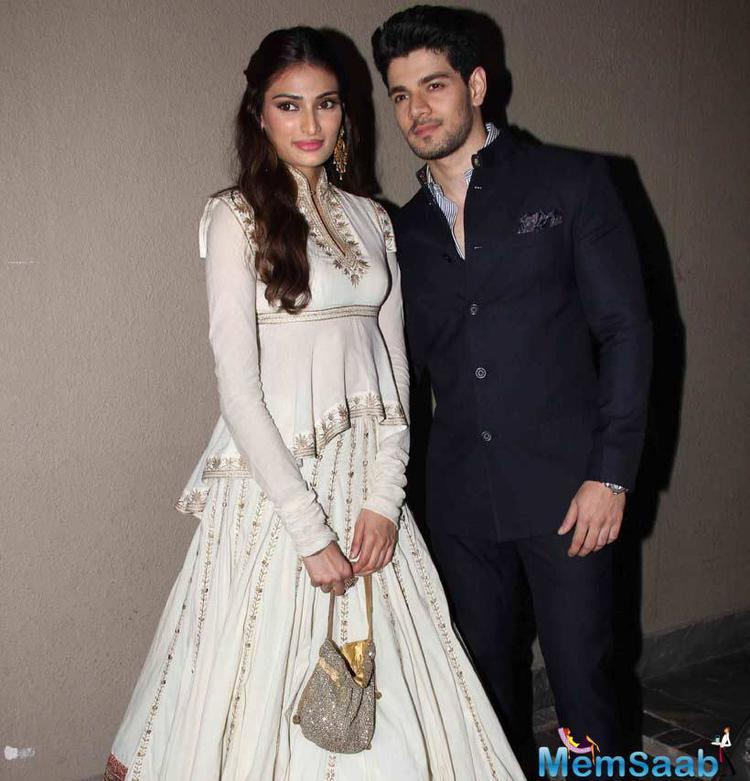 Athiya Shetty And Sooraj Pose Together During Masaba's Wedding Reception