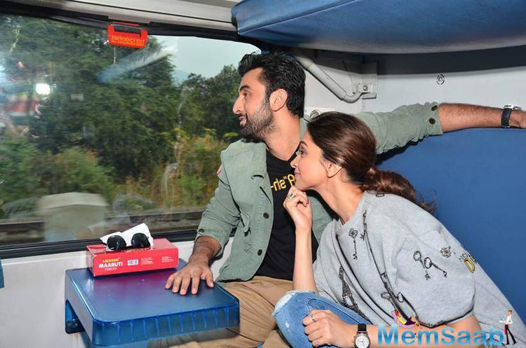 Ranbir And Deepika Enjoy The Beauty Of Nature