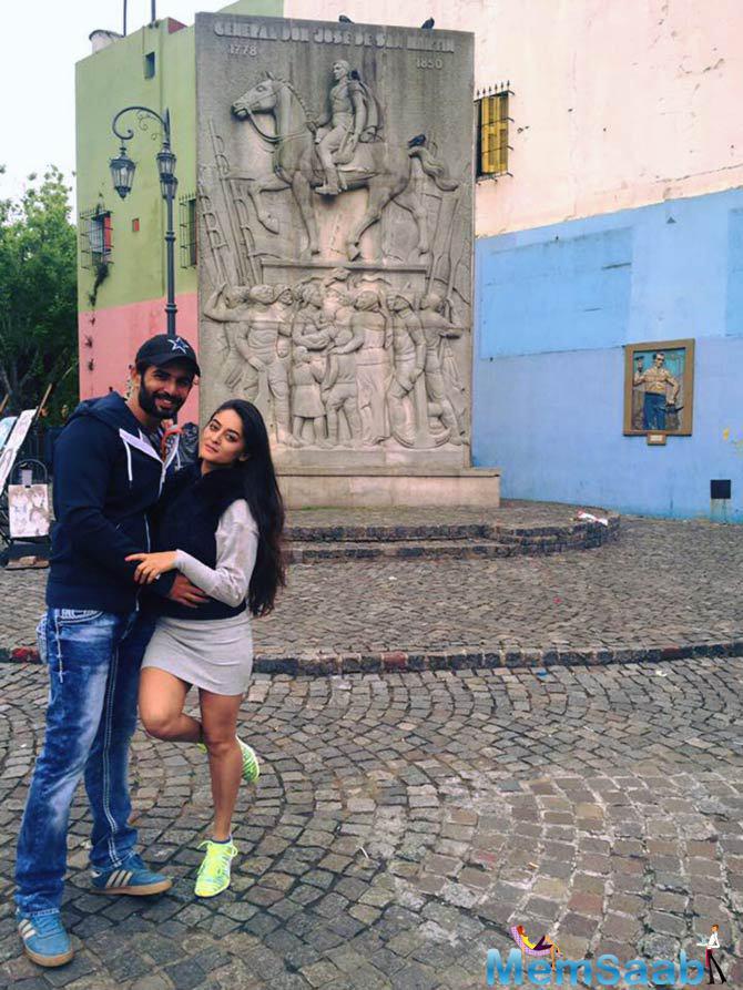 Jay And Mahii Vij In Argentina For Khatron Ke Khiladi 7 Shooting