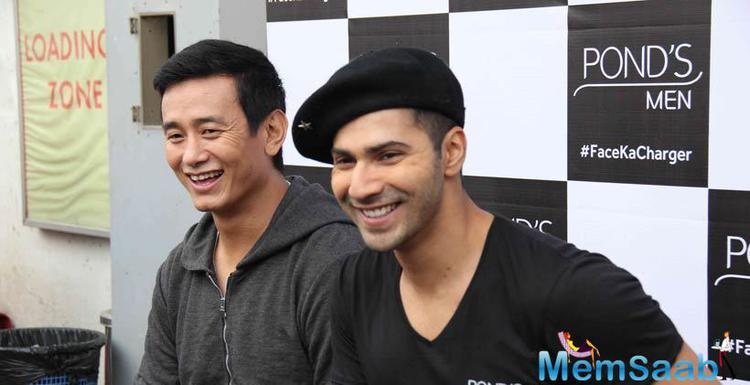 Varun And Bhaichung Were All Smiles At A Event Held By A Cosmetic Brand