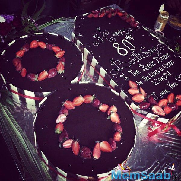 Salim Khan's Beautiful Birthday Cake