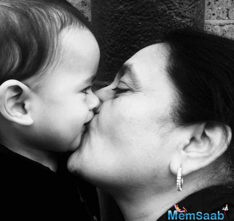 Cutie Riaan Kiss His Grandmother