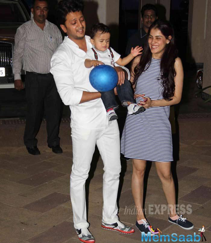 Riaan Seen Here With His Parents At Shahraan, Iqra's Birthday Bash