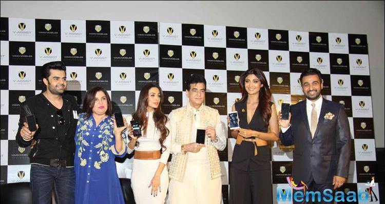 Shilpa And Raj With Other Celebs Launched Their New Viaan Mobiles