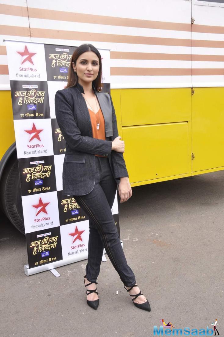 Parineeti Chopra Taped For An Episode Of Big B Show Aaj Ki Raat Hai Zindagi