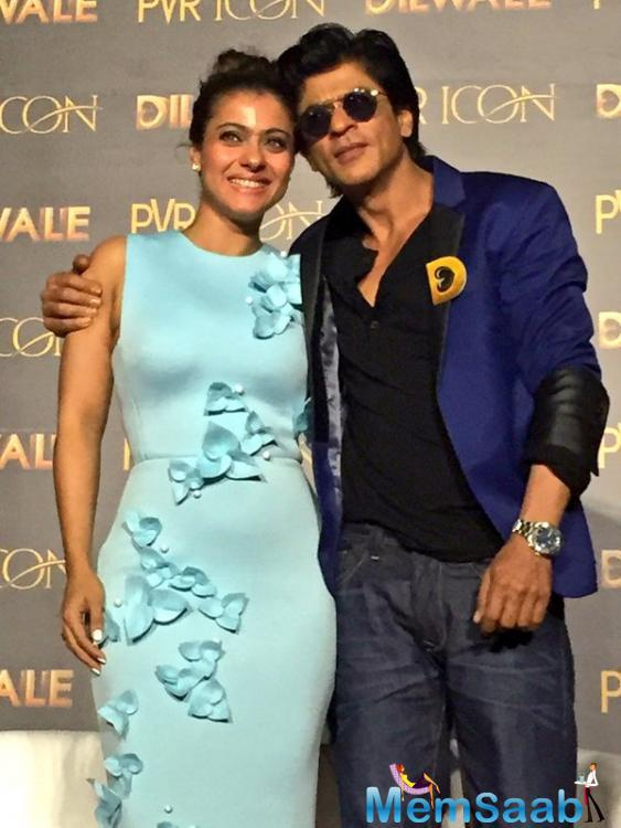 Kajol Devgan And Shah Rukh Khan Launched Dilwale Movie New Song Manma Emotion Jaage