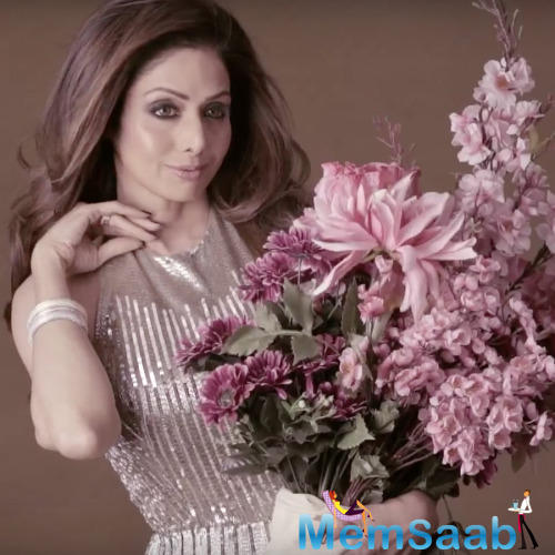 Evergreen Beauty Sridevi Glamour Looks For  Vogue Magazine Dec Issue