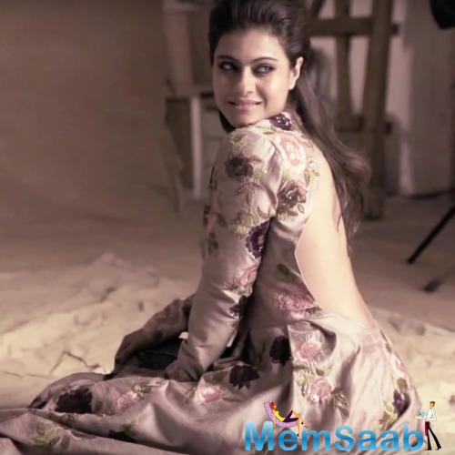 Kajol Strikes A Backbare Pose For Vogue Magazine Dec Issue 2015
