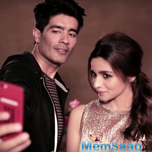 Manish And Alia's Selfie Time During The Cover Shoot Of Vogue Magazine