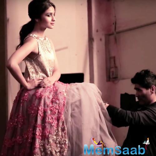 Manish Set Alia's Dress During Vogue Magazine Cover Shoot
