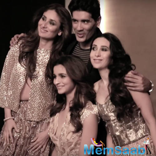 Manish Strikes A Pose With Bollywood Stunning Divas On Cover Shoot Of Vogue