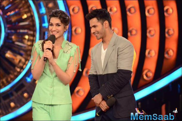 Kriti And Varun Seemed Excited About Being On Salman Khan's Show