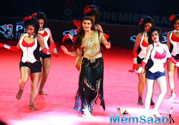 Jacqueline Gave Stunning Performance At The PBL's Opening Ceremony At In Worli