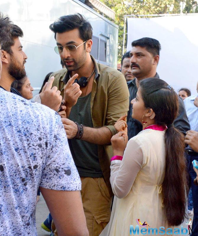 Director Vidhu Vinod Chopra Met Ranbir At Mehboob Studio For Sanjay Dutt Biopic