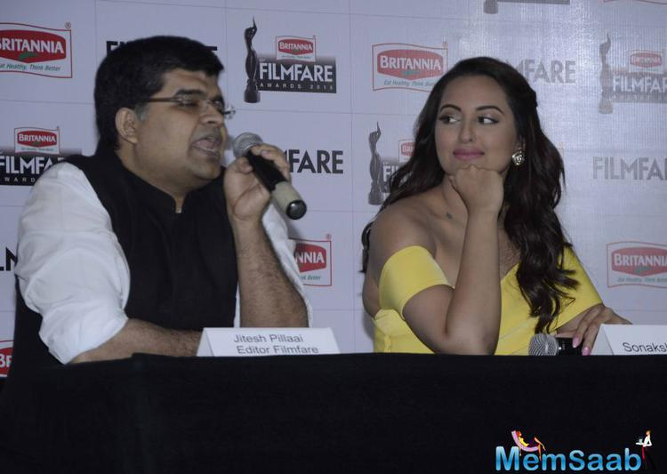Jitesh Pillai And Sonakshi Attened The 61st Britannia Filmfare Awards 2015