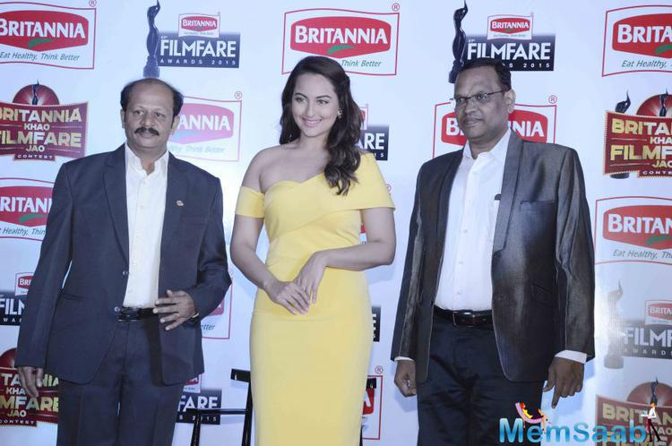 Sonakshi Sinha During Press Meet Of Filmfare Awards 2015