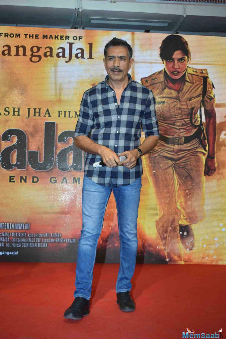 Director Prakash Jha Who Also Plays A Police Officer In Jai Gangaajal