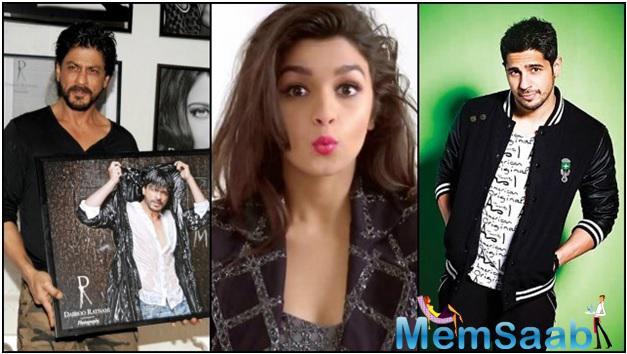 what Alia bhaat think of sharuk and sidharth Malhotra