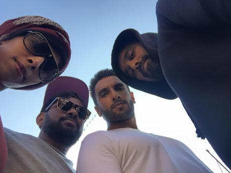 Ranveer Clicked With His Crew Members During An Ad Shoot