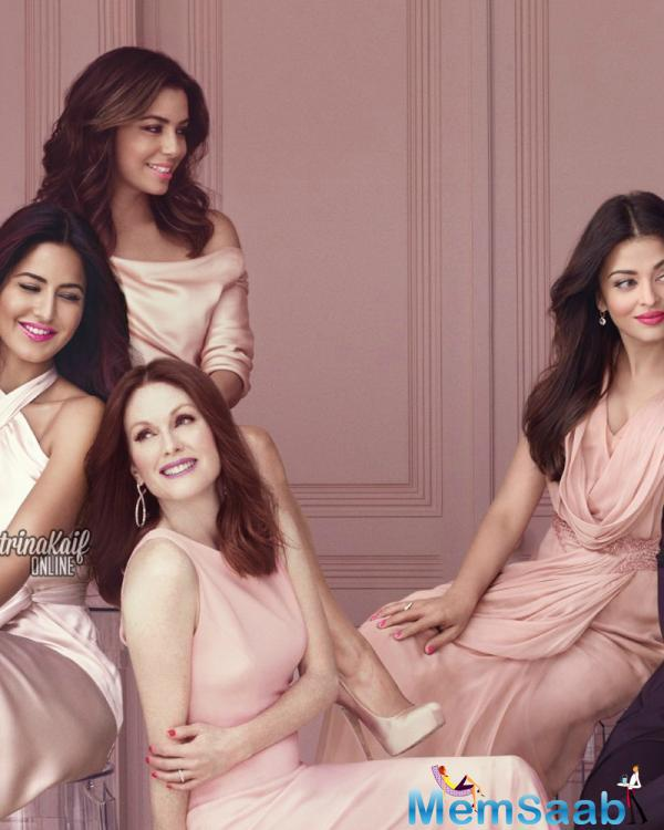 The Charming Diva's Of Bollywood Pose Together For An Ad Shoot With International Hotties