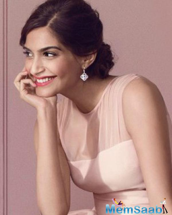 Sonam Kapoor ,Who Busy With Her Upcoming Flick Neerja All Smile For A Cosmetic Brand