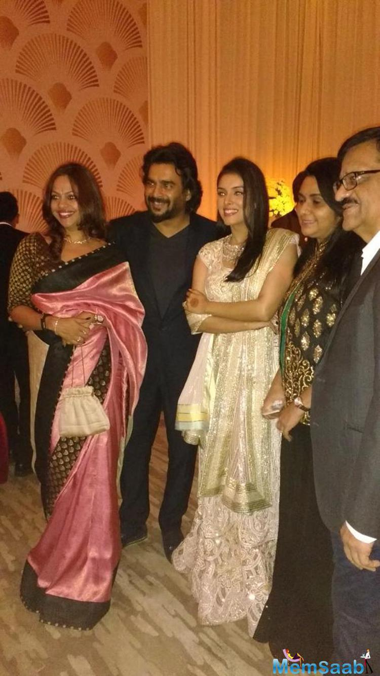 After hosting a special screening of Saala Khadoos R. Madhavan also attended the wedding reception