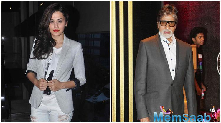 Taapsee is thrilled about being teaming up with megastar Amitabh Bachchan