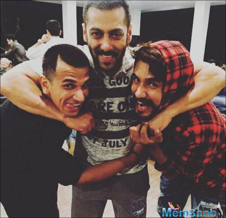 Salman shared some quality time with Prince and Suyyash