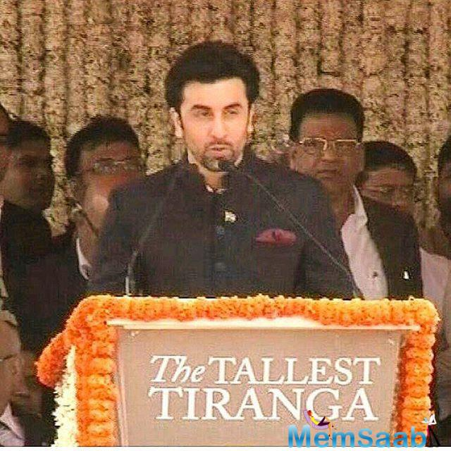 Bollywood heartthrob Ranbir was the guest of honour at a Republic Day event